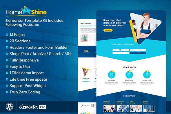 HomeShine-Cleaning&Laundry-Elementor-Template-Kit-Nulled-Download