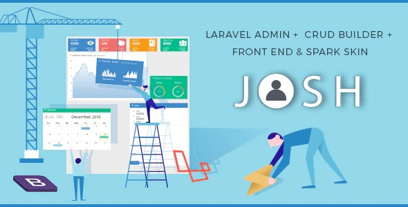Josh-Nulled-Laravel-Admin-Template+Front End+CRUD