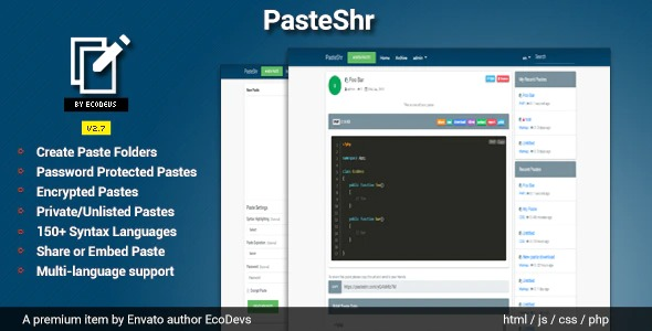 PasteShr-Nulled-Text-Hosting&Sharing-Script-Download-GPL