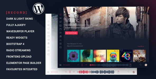 Rekord-Nulled-Ajaxify-Music-Events- Wp-Theme-Download