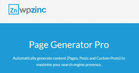 WPzinc-Page-Generator-Pro-Nulled-Download