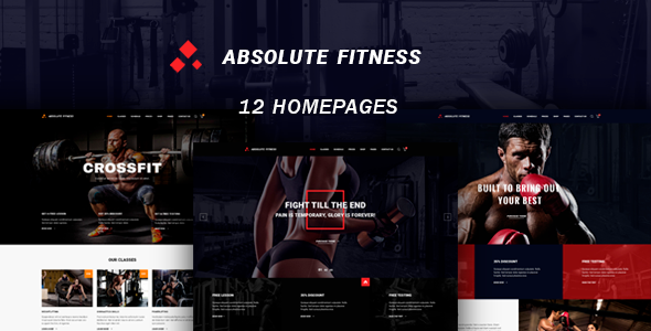Absolute Fitness 1.0.1 - multipurpose WordPress theme