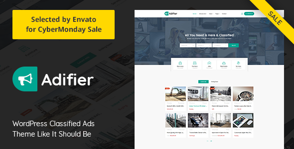 Adifier 3.6 - Classified Ads WordPress Theme