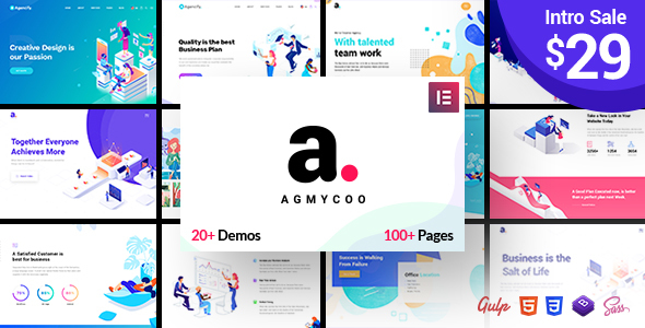 Agmycoo 1.1 - Isometric Creative Digital Agency WordPress Theme