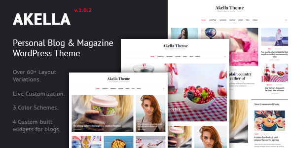Akella 1.0.2 - Personal Blog & Magazine WordPress Theme
