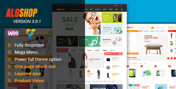 Alo Shop 3.9.1 - Responsive WooCommerce WordPress Theme