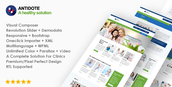 Antidote 1.1.7 - Health & Medical WordPress Theme