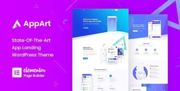 AppArt 2.5 - Creative Apps Landing WordPress Theme
