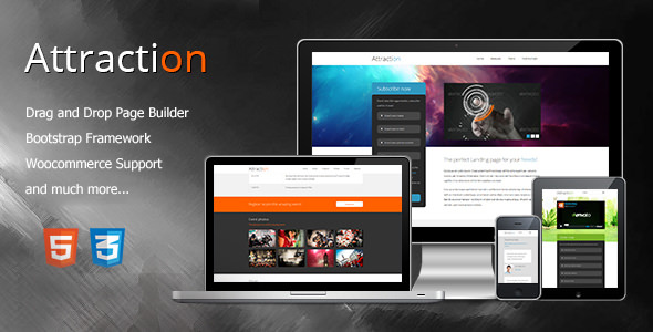 Attraction 2.1.0 - Responsive WordPress Landing Page Theme