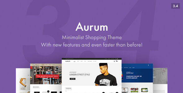 Aurum 3.4.1 - Minimalist Shopping WordPress Theme