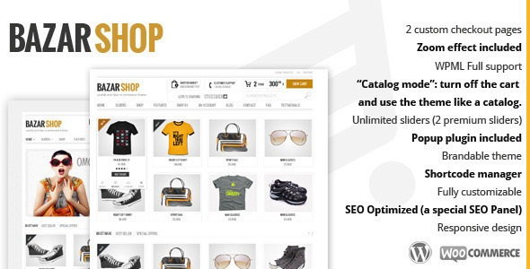 Bazar Shop Multi-Purpose e-Commerce Theme