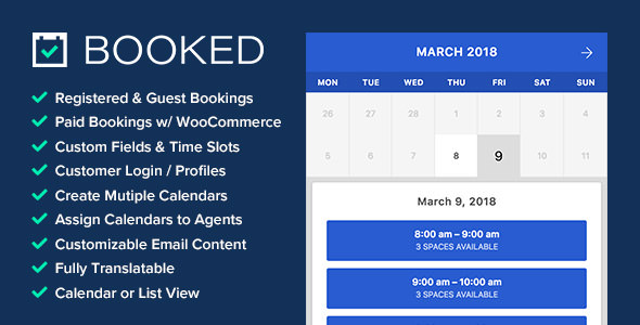 Booked 2.2.4 - Appointment Booking for WordPress