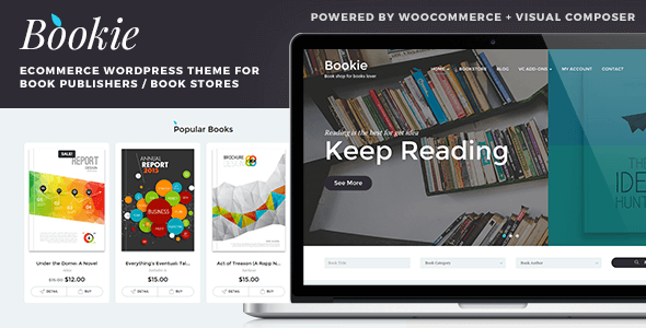 Bookie 1.4.2 - WordPress Theme for Books Store