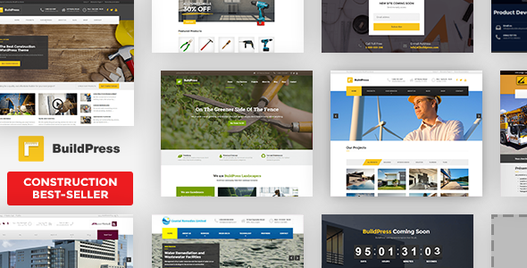 BuildPress Construction and Landscape WordPress Theme