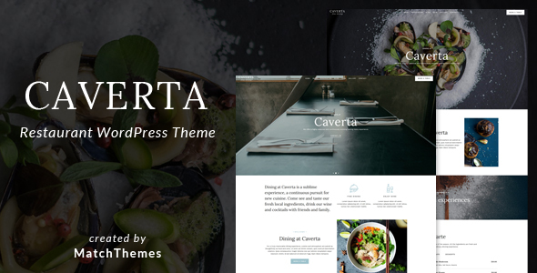 Caverta Fine Dining Restaurant WordPress Theme