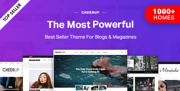 CheerUp 6.0.2 - Blog / Magazine - WordPress Blog Theme