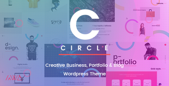 Circle Creative Business, Portfolio Blog WordPress Theme