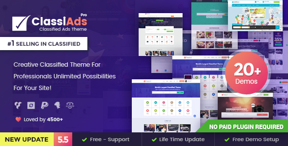 Classiads 5.5.2 - Classified Ads WordPress Theme