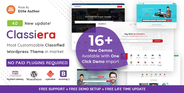 Classiera 4.0 - Classified Ads WordPress Theme