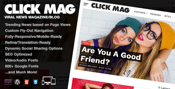 Click Mag 3.0.0 - Viral WordPress News Magazine/Blog Theme