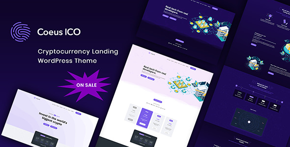 Coeus Cryptocurrency Landing Page Theme