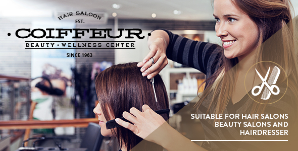 Coiffeur Hair Salon Premium WordPress Theme