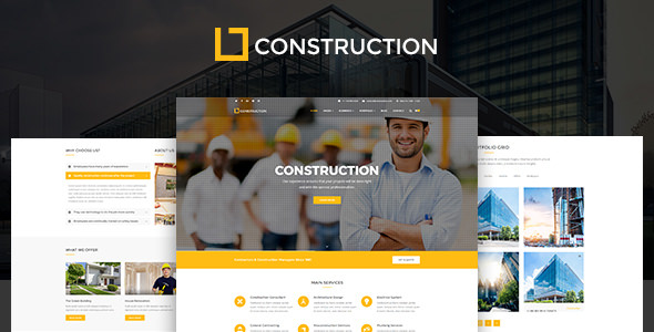 Construction Business & Building Company WordPress Theme