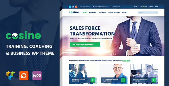 Cosine 1.0.4 - Training, Coaching & Business WordPress Theme