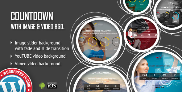 CountDown With Image or Video Background Responsive WordPress Plugin