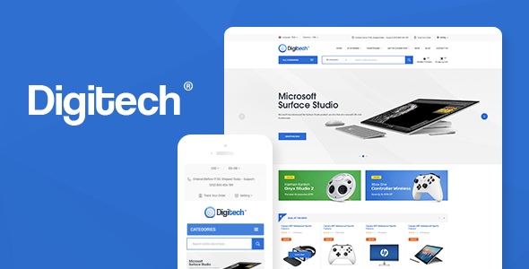 Digitech 1.0.4 - Technology Theme for WooCommerce