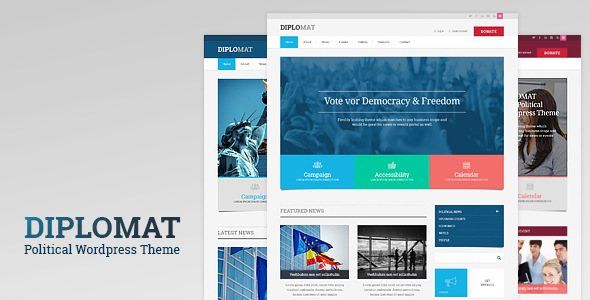 Diplomat 1.2 - Political Campaign, Party, Blog Responsive WordPress Theme