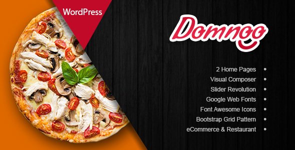 Domnoo 1.6 - Pizza & Restaurant WordPress Theme