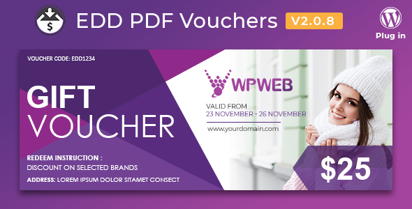 Easy Digital Downloads - PDF Vouchers 2.0.8