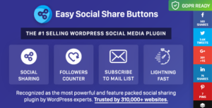 Easy Social Share Buttons for WordPress 5.8