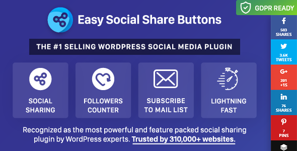 Easy Social Share Buttons for WordPress 6.1.1