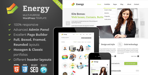Energy 3.1.1 - Responsive Multi-Purpose Theme