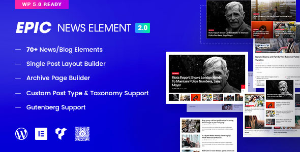 Epic News Elements 2.2.1 - Add Ons for Elementor & WPBakery Page Builder