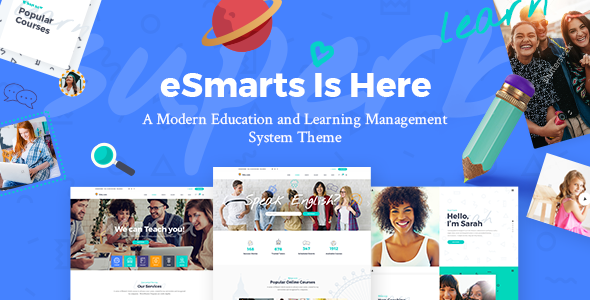 eSmarts Education and LMS WordPress Theme
