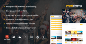 Event Champ 1.7.4 - Multiple Events & Conference WordPress Theme