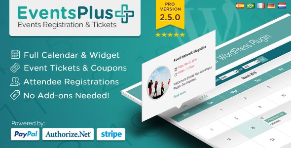 Events Calendar Registration & Booking 2.5.2 - WordPress Events Plugin