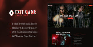 Exit Game v1.0 - Real-Life Room Escape WordPress Theme
