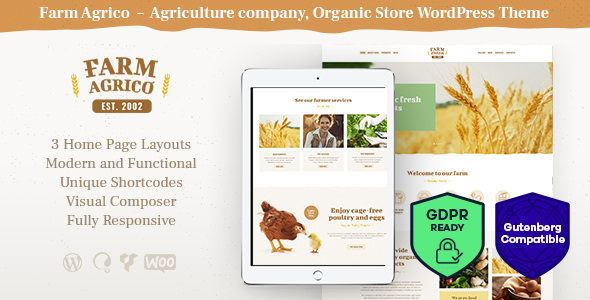 Farm Agric 1.1 - Agricultural Business WordPress Theme