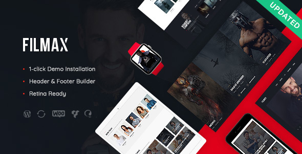 Filmax 1.0 - Movie Magazine WordPress Theme