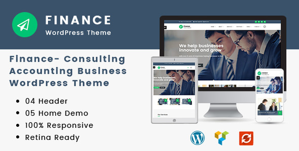 Finance 1.2.6 - Consulting, Accounting WordPress Theme