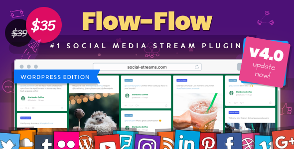 Flow-Flow 4.6.4 - WordPress Social Stream