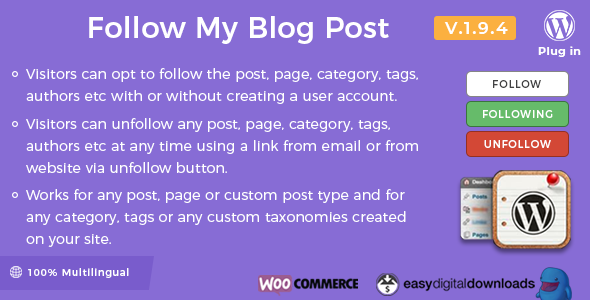 Follow My Blog Post 1.9.4 - WordPress Plugin