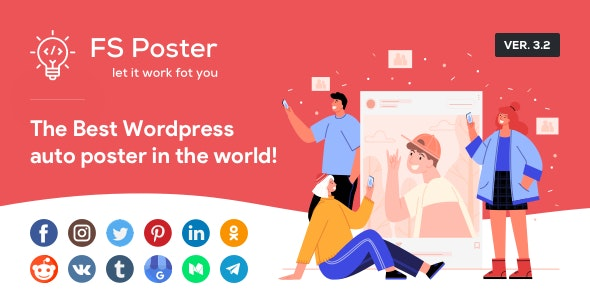 FS Poster 4.0.9 Nulled - WordPress Auto Poster & Scheduler