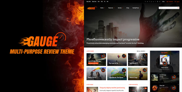 Gauge 6.39 - Multi-Purpose Review WordPress Theme