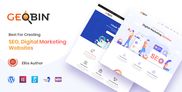 GeoBin 2.0 - Digital Marketing Agency, SEO WordPress Theme