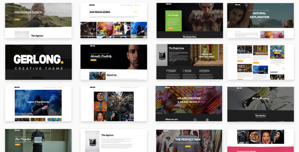 Gerlong 1.1.3 - Responsive One Page & Multi Page WordPress Theme